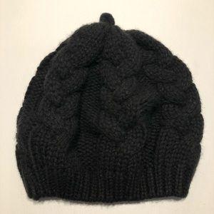 Merona Women's Knitted Beanie Hat One Size Black